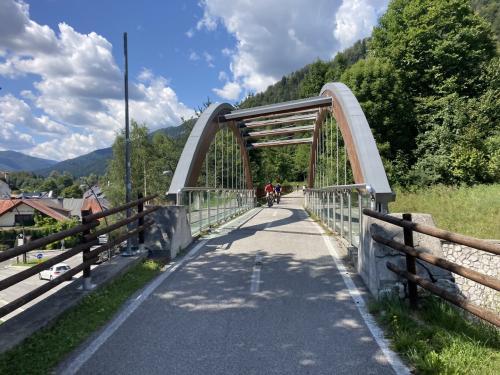 La ciclovia Alpe–Adria in uscita da Tarvisio