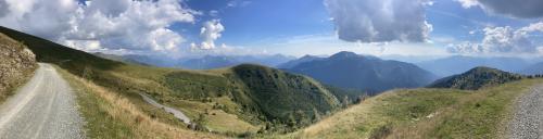 Panoramica dalle pendici del monte Valsecca